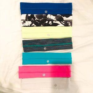 Set of 7 lululemon headbands